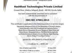 ISO27001 certificate